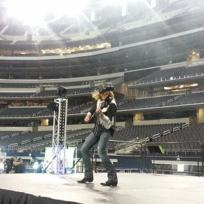 Perfroming at the AT&T Stadium (TX)